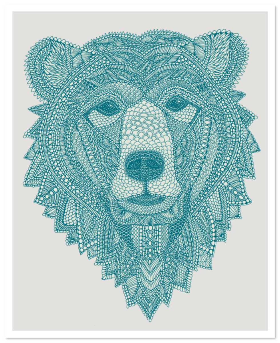 Bear drawing by Claire Scully
