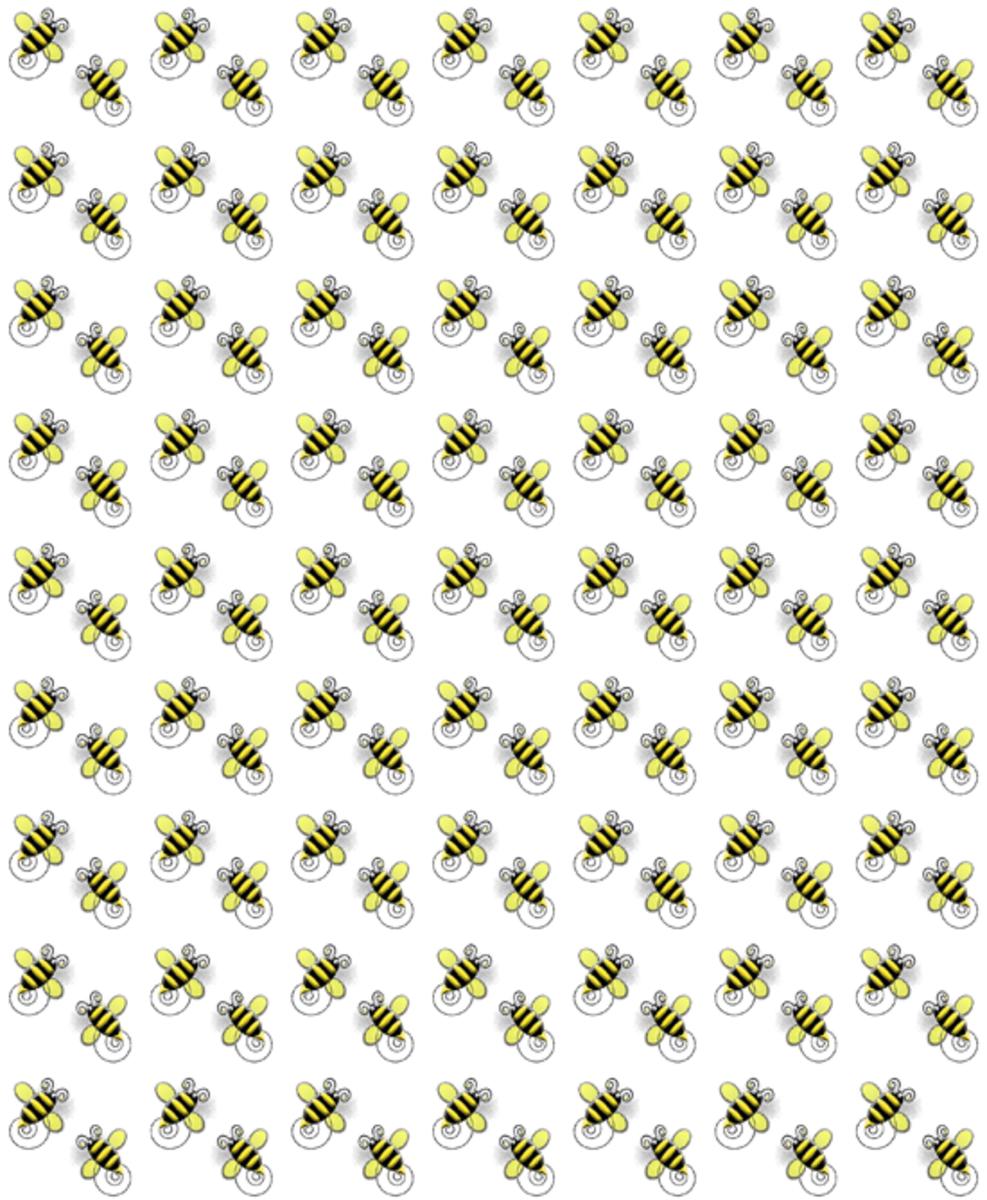 Spring Bumblebees Pattern Printable