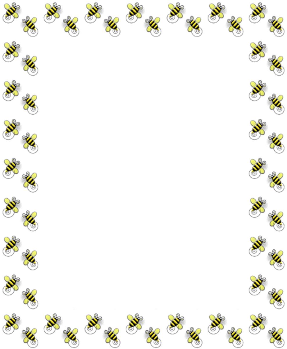 Spring Clip Art Frame Bumble Bees
