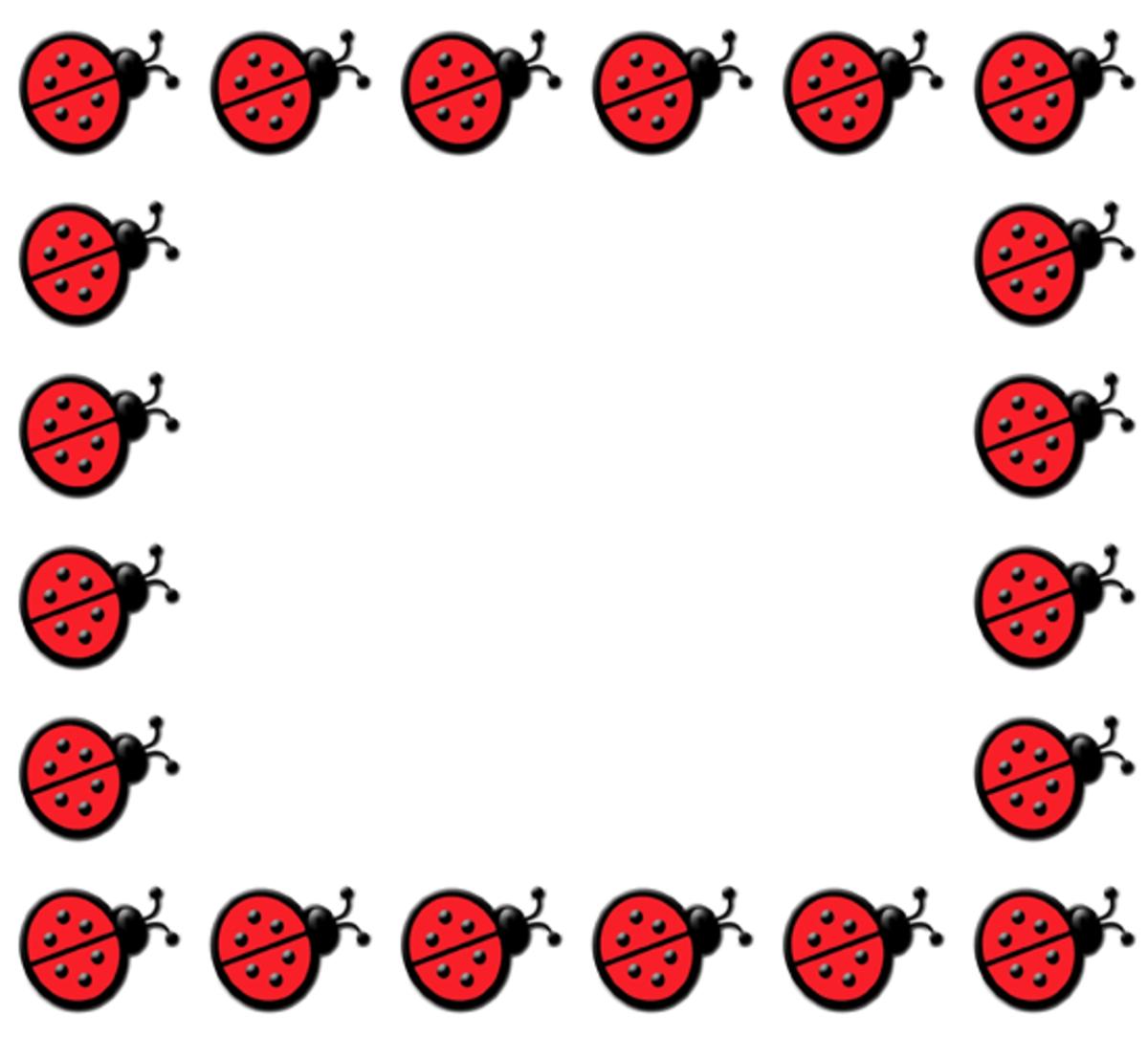 Ladybug Clip Art Frame