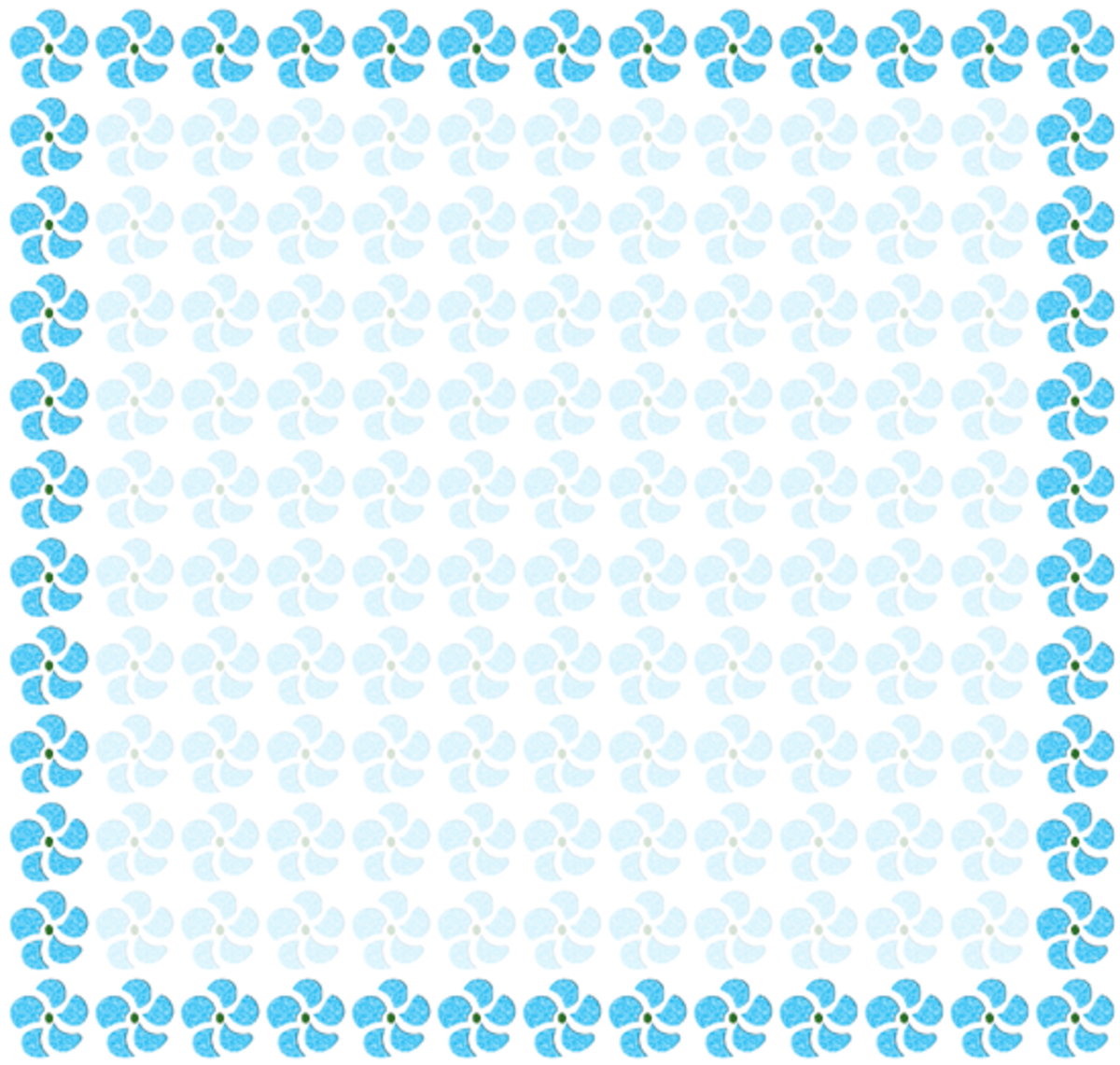 Blue Flowers Frame Spring Scrapbook Printable