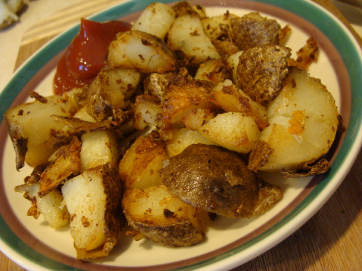 The Reason I LOVE Leftover Baked Potatoes:  Home Fries, a Simple and Frugal Breakfast Side Dish