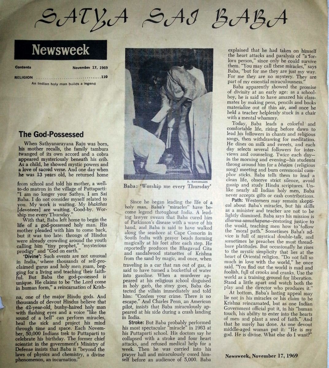 The article as it appeared in the Newsweek on November 17th, 1969