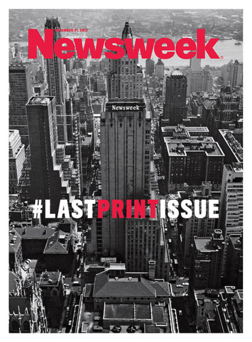 The cover of the final Newsweek print issue in December 2012
