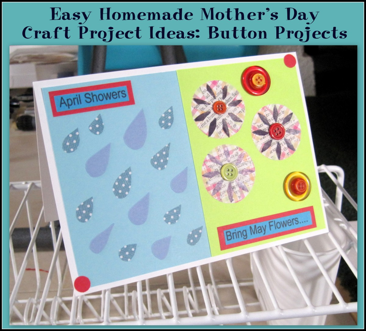Easy Homemade Mother's Day Craft Project Ideas: Button Projects
