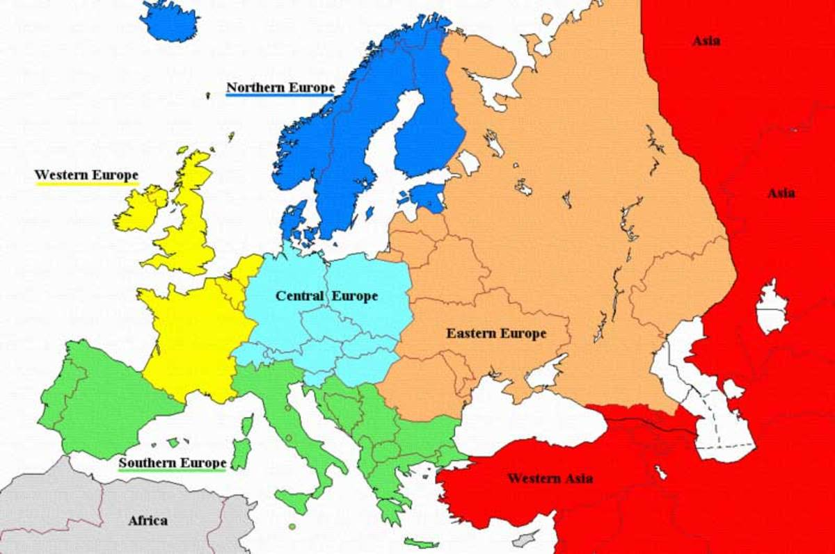Map Of Russia For Kids.Learn About The Continent Of Europe For Kids Hubpages