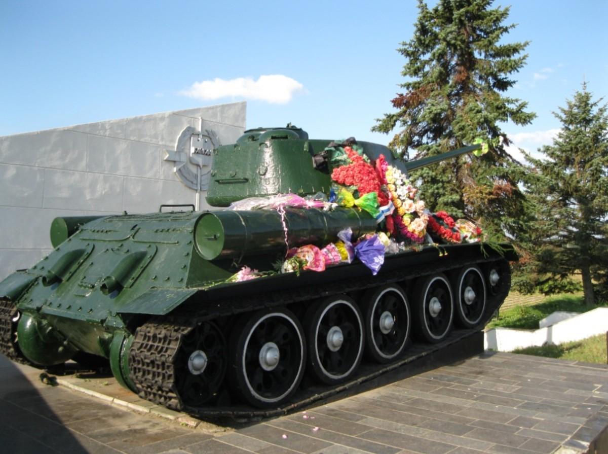 WW II Russian Tank in Veliky Novgorod, Russia