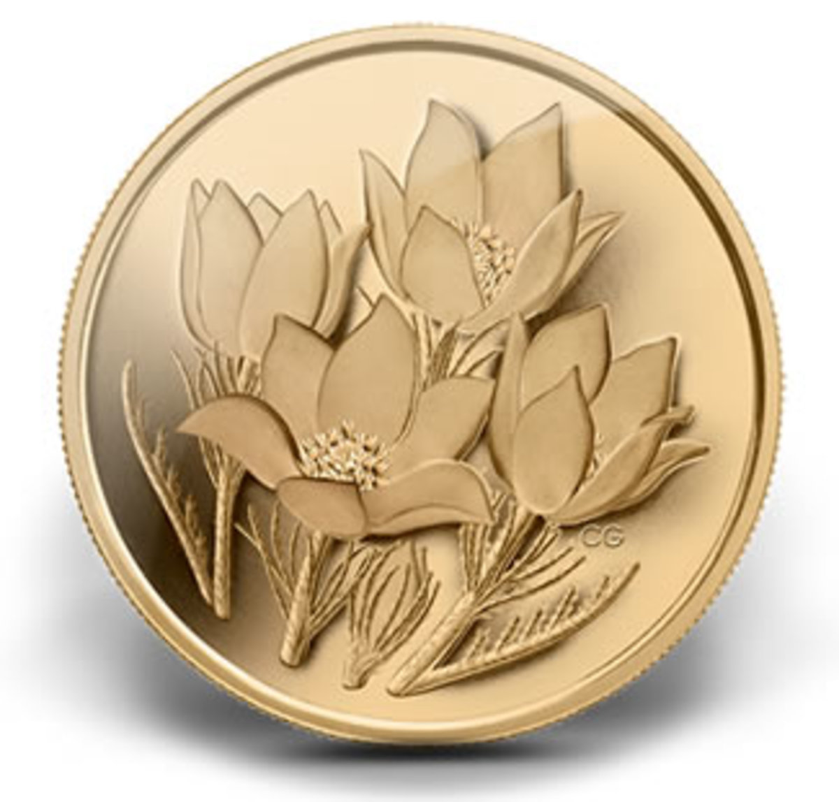 Prairie Crocus (2010) - Worlds Purest Gold Coin (13th in Series)