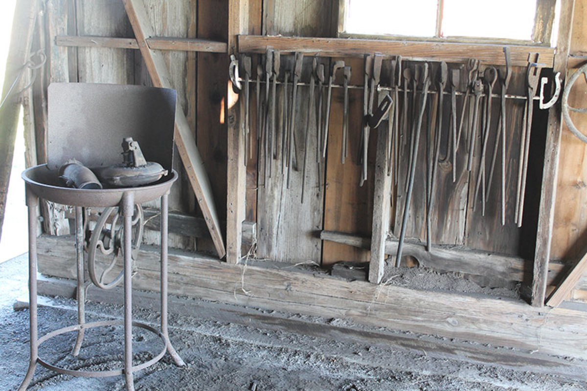 Typical Blacksmith Shop and tools