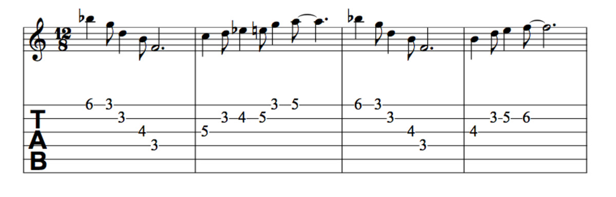 Blues Guitar Lesson • How To Use The Combination Scale. Chords, Solos, Tab, Videos, Jam Tracks