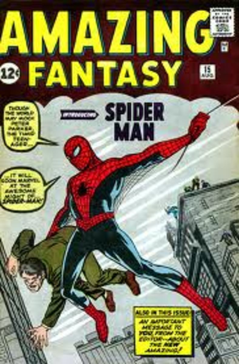 The first appearance of Spider-man