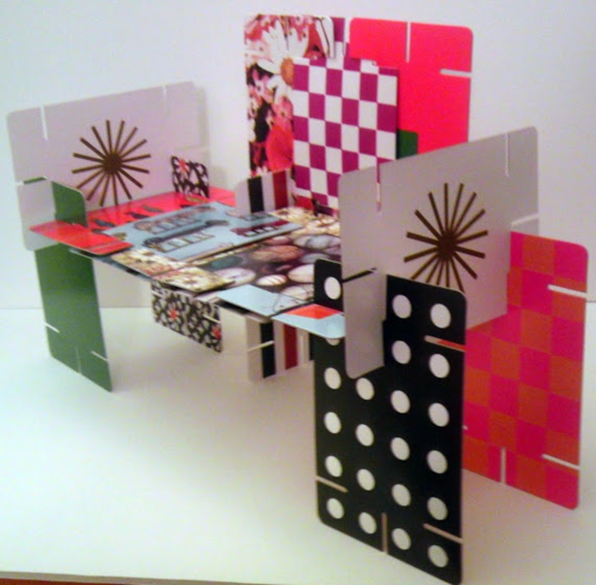 The building possibilities are endless with the Eames cards.