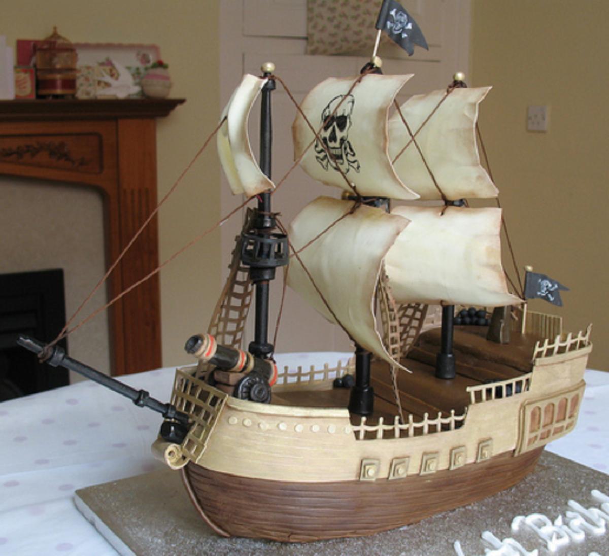 Amazing Pirate Ship Birthday Cakes