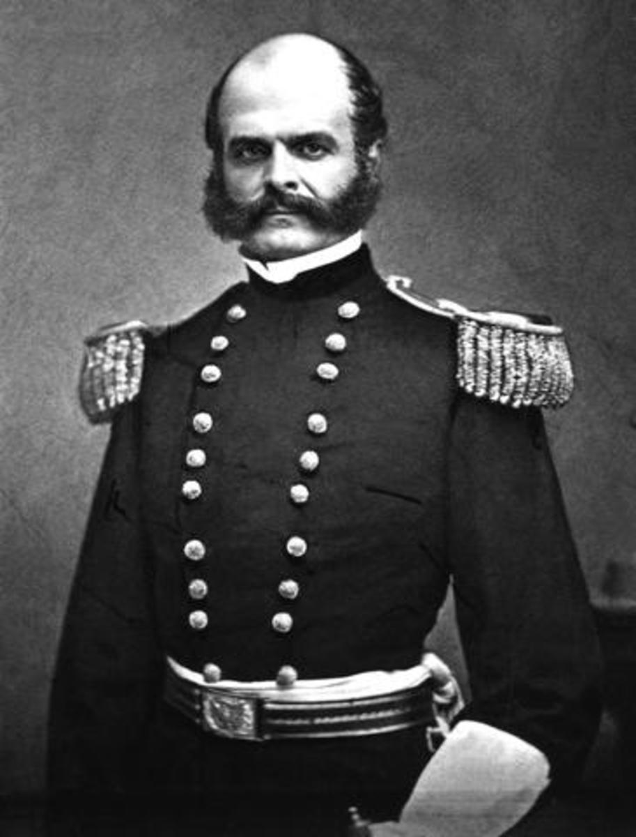 Ambrose Everett Burnside - This image (or other media file) is in the public domain because its copyright has expired. This applies to Australia, the European Union and those countries with a copyright term of life of the author plus 70 years.