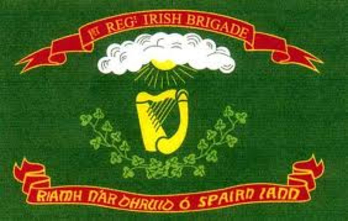 Flag of the 69th Brigade -'Fighting Irish'