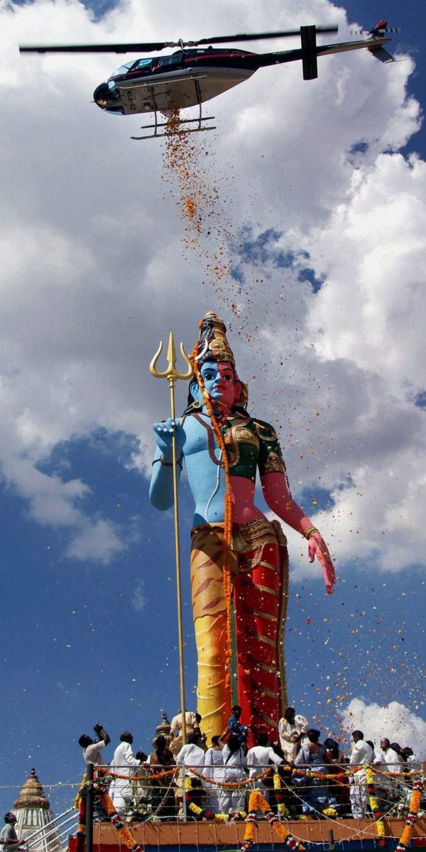 The World's Tallest Shiva-Shakti Statue, South Africa (Also called Ardha Nareeswara, half part of male and half part of  female)