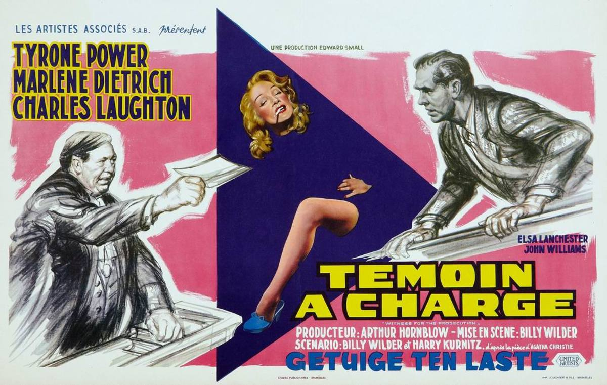 Witness for the Prosecution (1957) Belgian poster