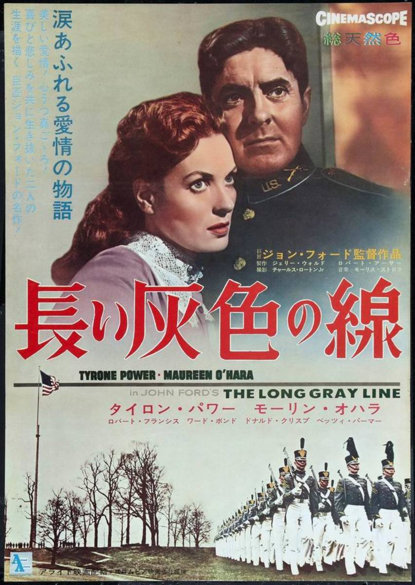 The Long Gray Line (1955) Japanese poster
