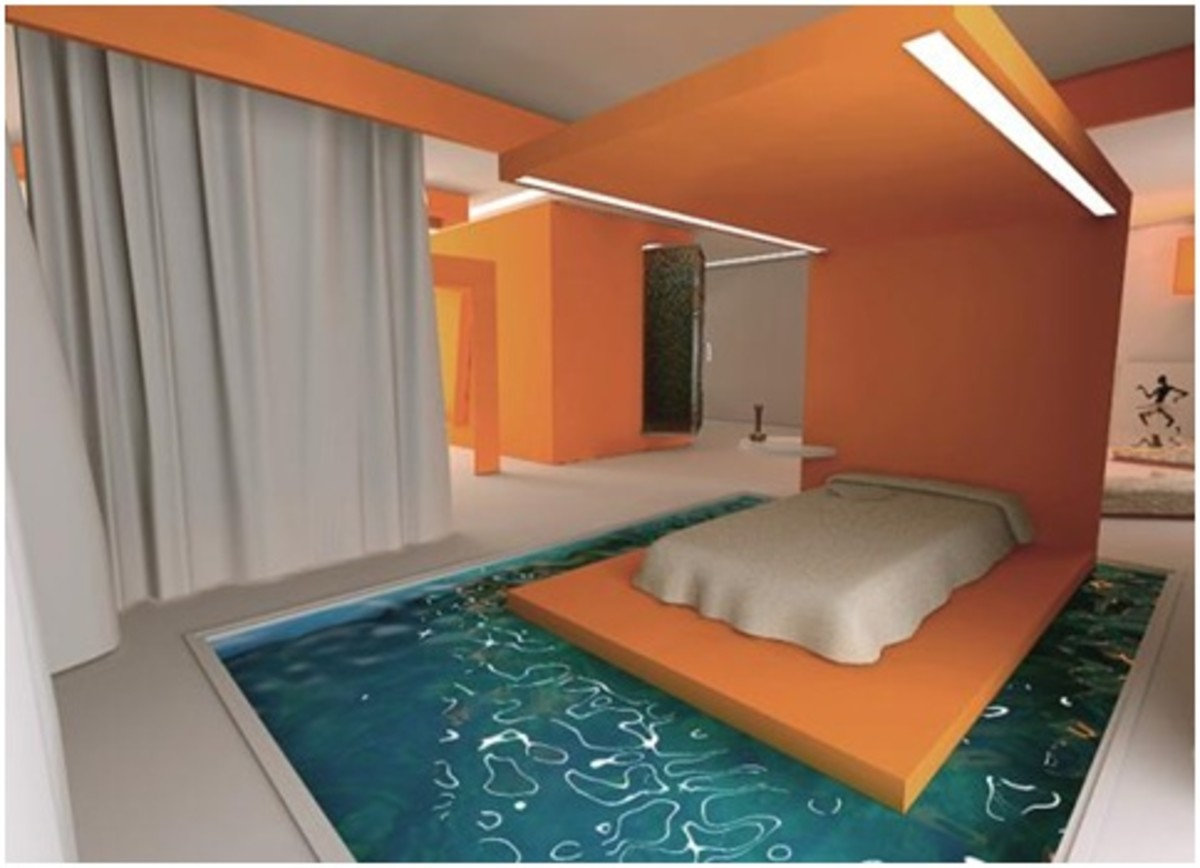 Bedroom with More Than A View - A Swimming Pool at Your Feet