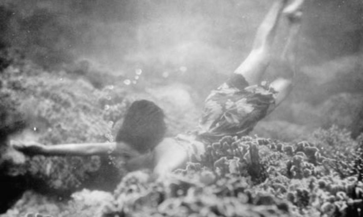 Polynesian breath-holding diver