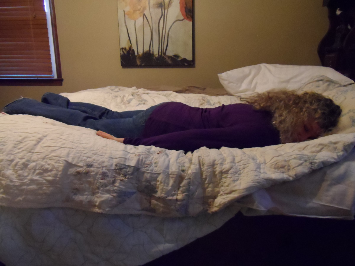 Prone sleep position, chest down and face down