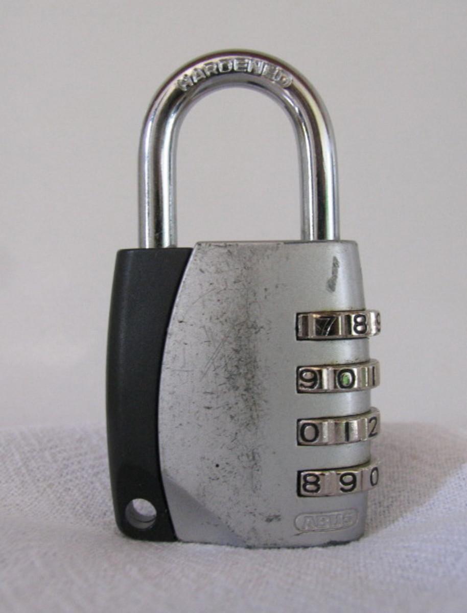 Abus combination lock