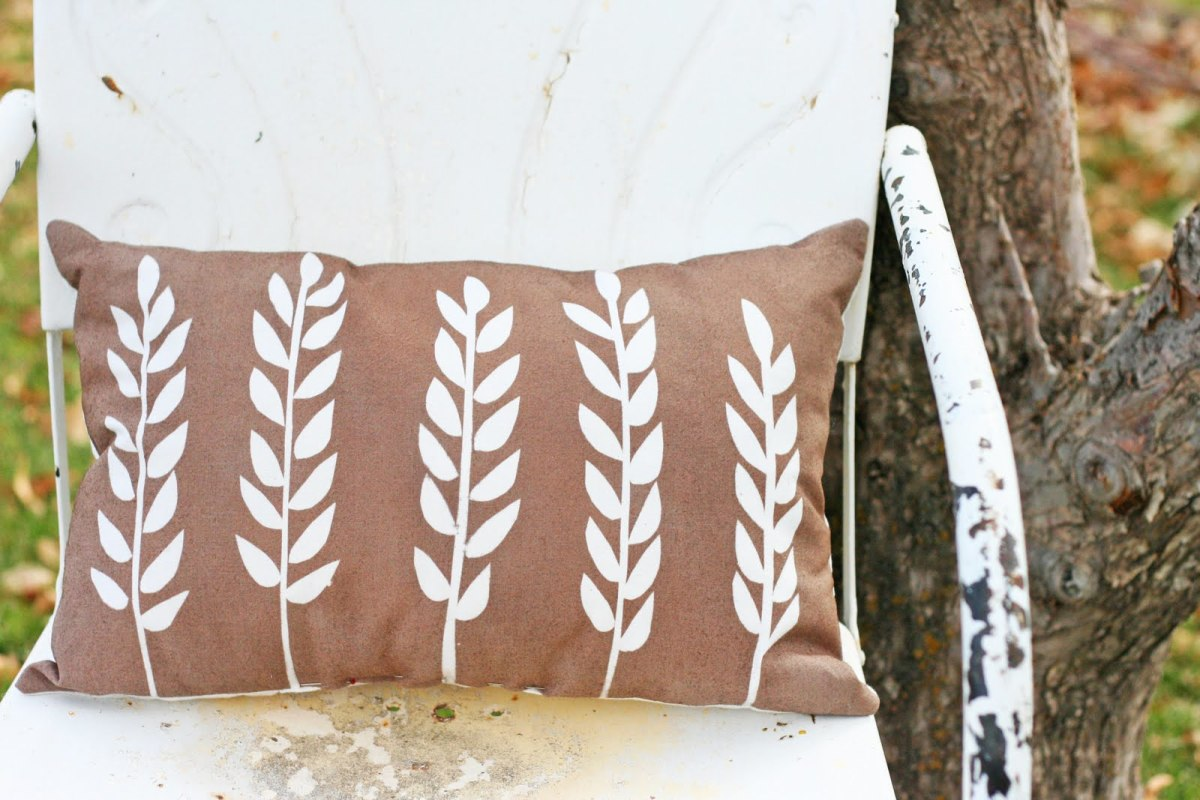 Wheat Stencil Pillow