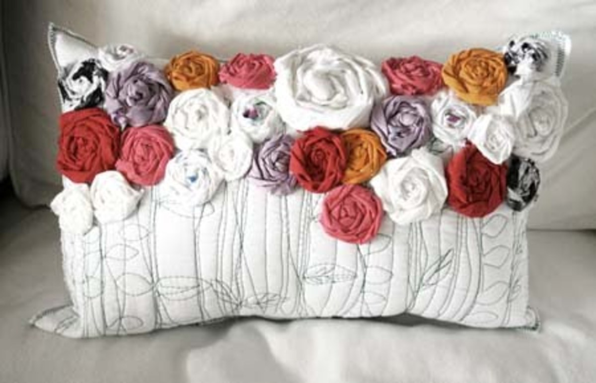 Roses Pillow Sewing Tutorial