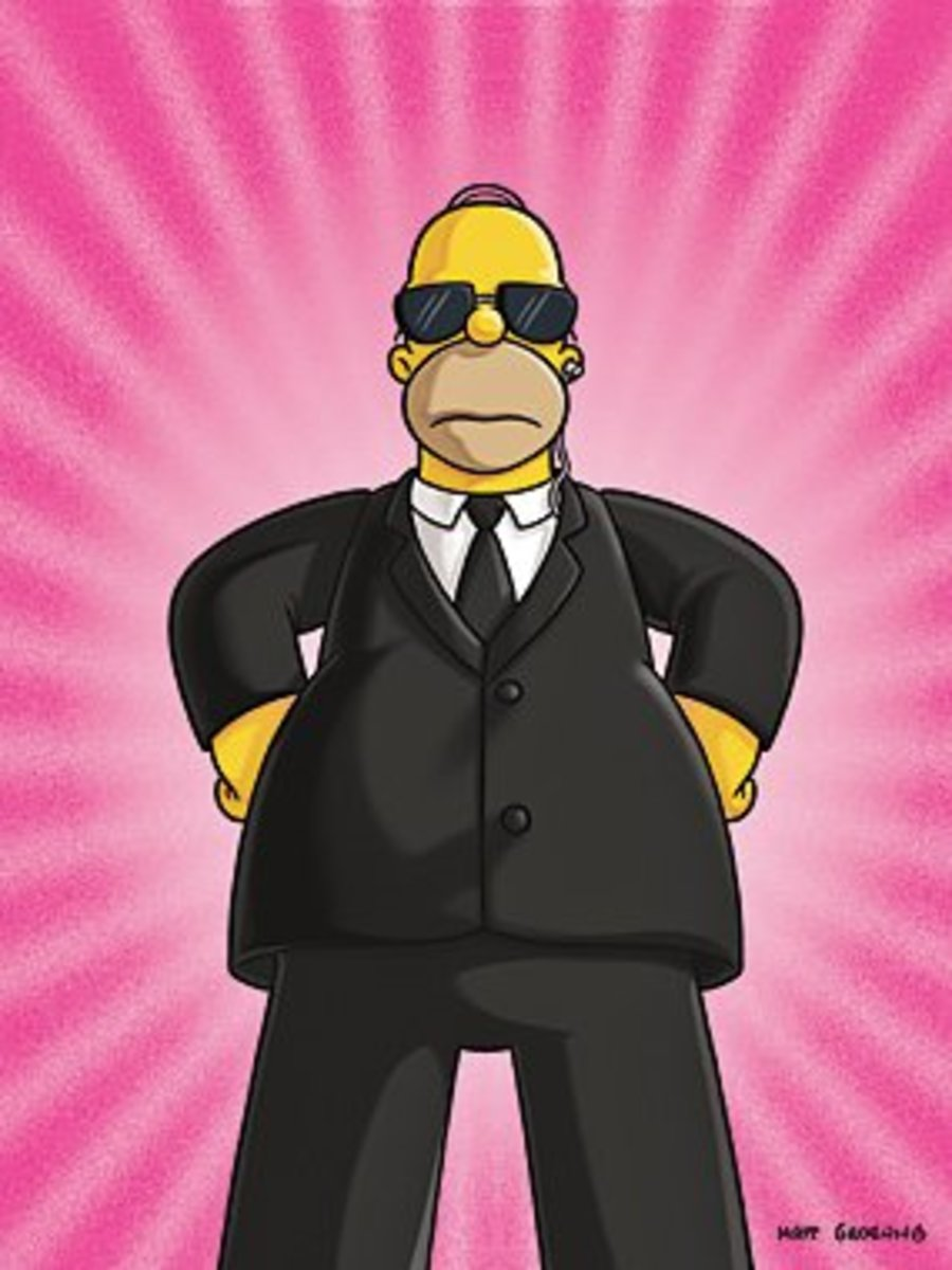 "Homer poses as a secret agent in this promo for ""Mayored to the Mob"""