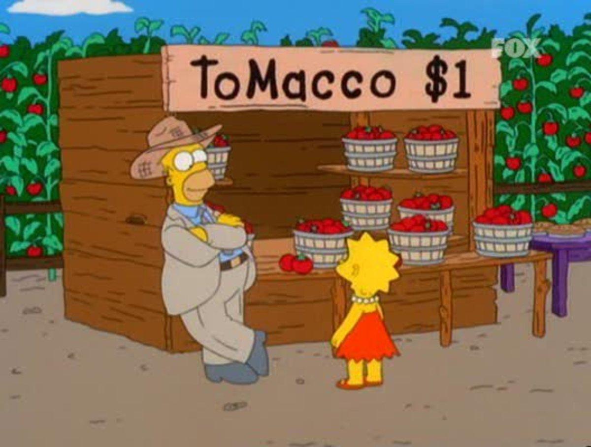 Homer sells his tomacco crop