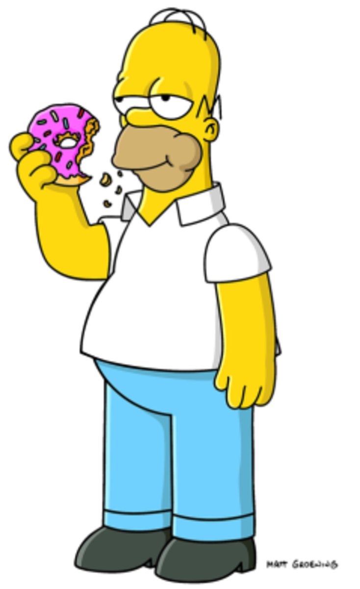 Homer Simpson taking a work break