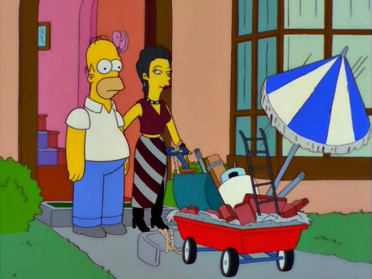 Homer assembled barbecue components in a unique way, thereby launching an art career.