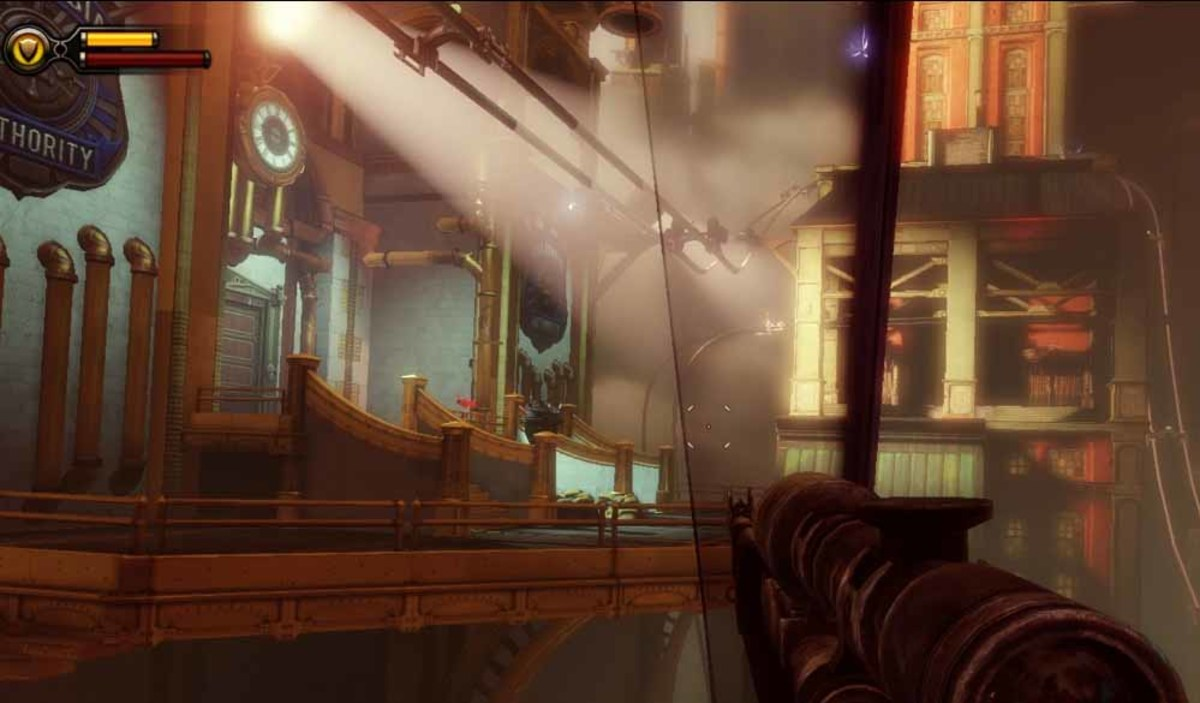 Bioshock Infinite get to the Shantytown police impound by using the right skyline and find Chen Lin's confiscated tools