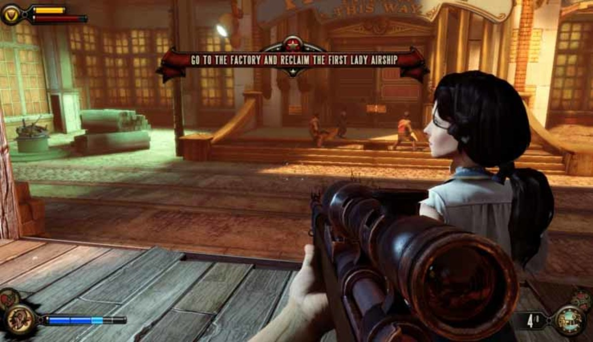 Bioshock Infinite Go to the Factory and Take Back the First Lady Airship