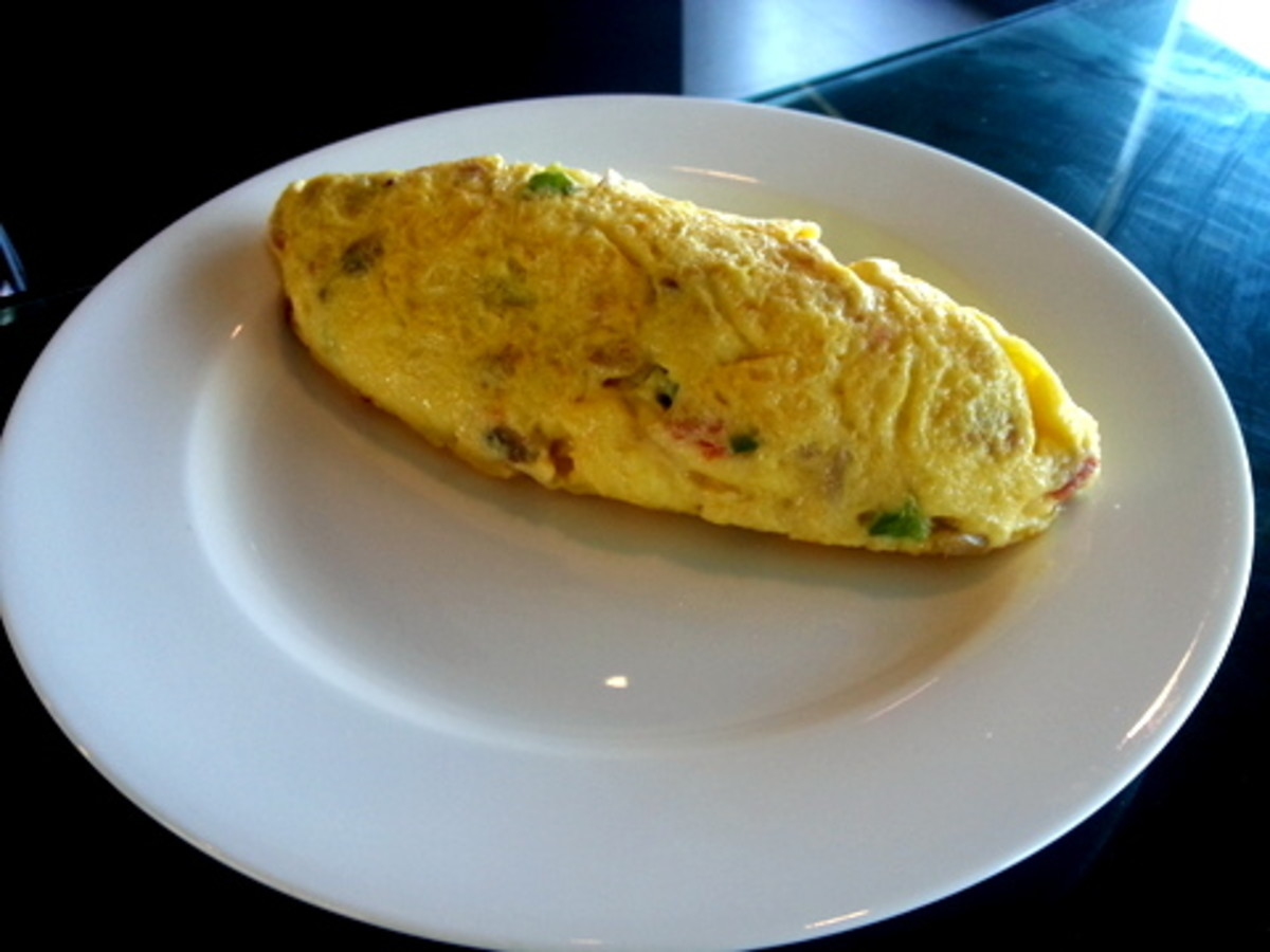 Easy Folded Omelet Recipe: Your omelet is now ready to be served with your favorite salad or bread