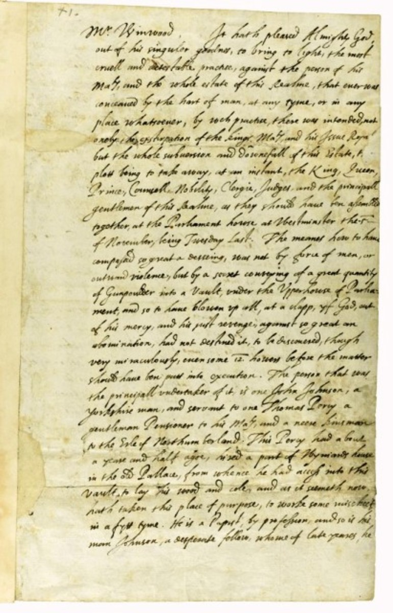 Robert Cecil letter advises the king on the course of action to take, and authority requested to enact measures against repercussion or repeated attempts on his life