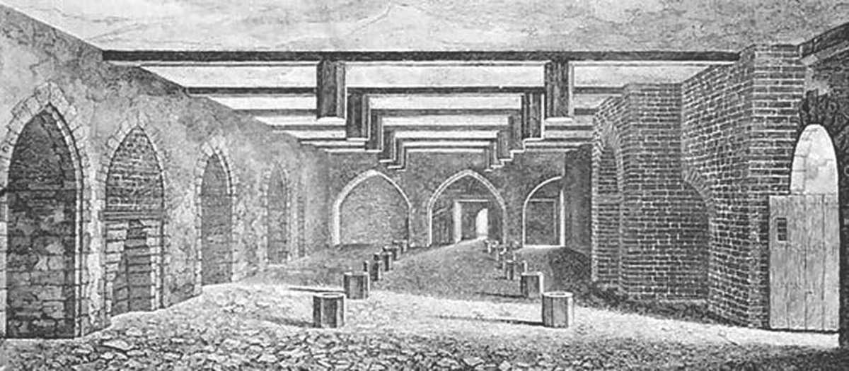 The undercroft of the Palace of Westminster had direct access from the river, across which the plotters' gunpowder was rowed under Fawkes' leadership
