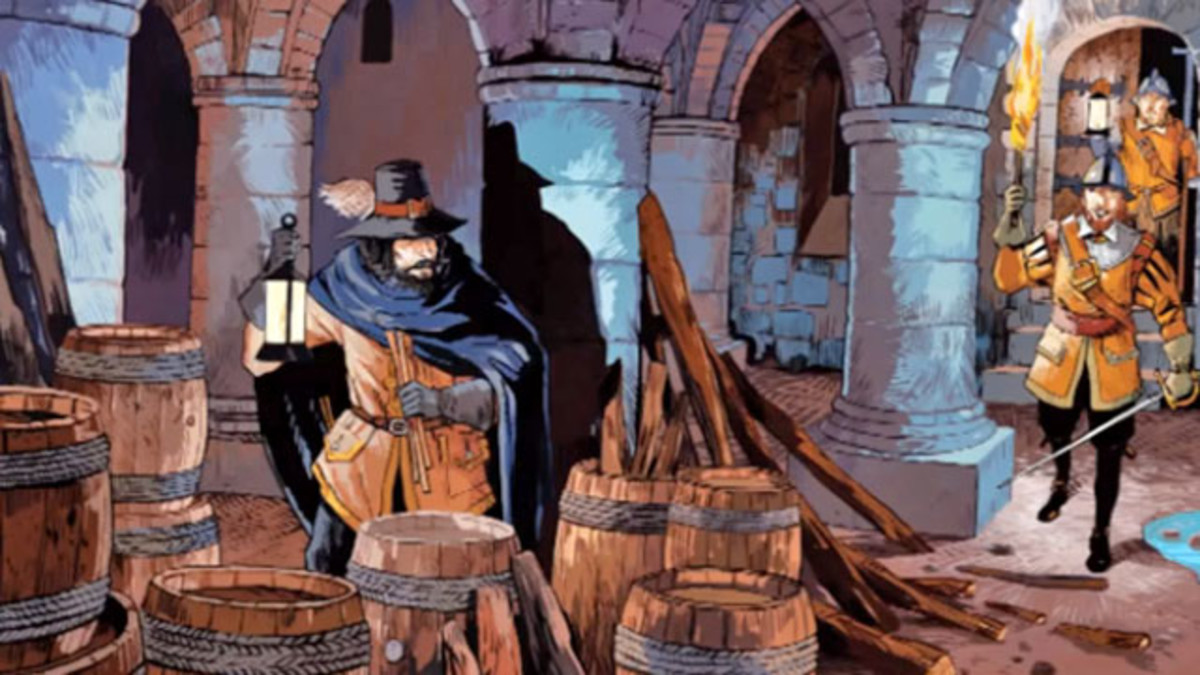 Guy Fawkes - Guido Foulkes - discovered in the undercroft of the Palace of Westminster (Parliament)