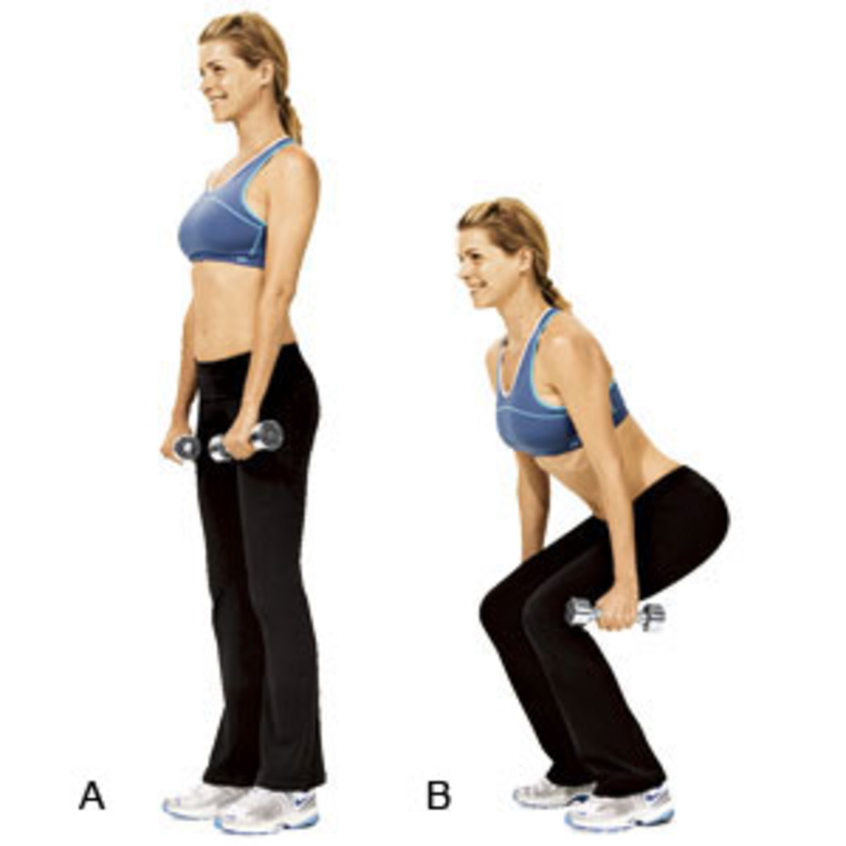 dumbbell squat are great for a curvy body