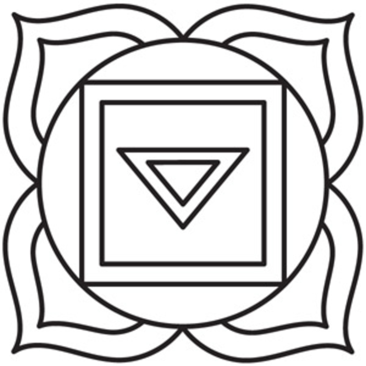 Base-of-the-Spine Chakra Symbol