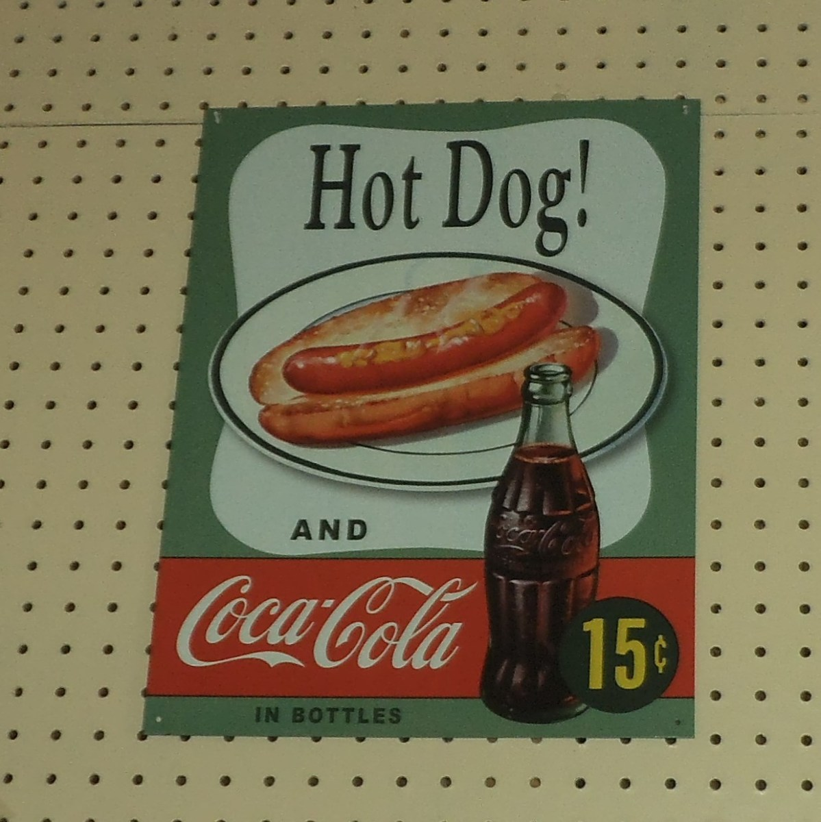 It's hard to imagine a Coke for just 15 cents (or maybe it's the hot dog that is 15 cents). Either way, quite a bargain by today's standards.