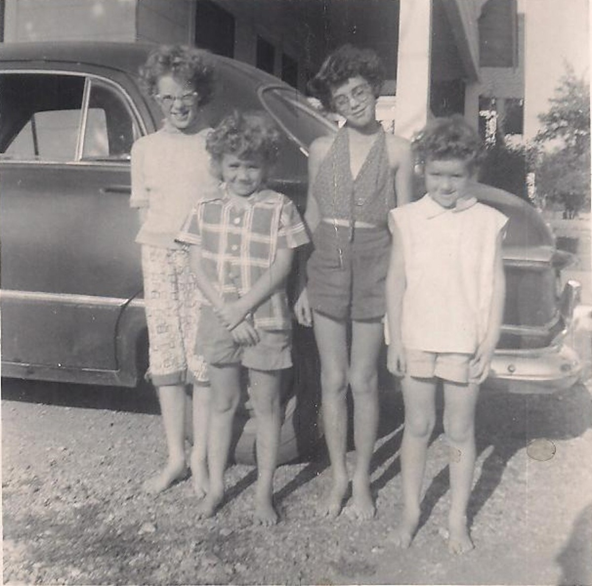 Me and my sisters pause for a moment for a picture back in the 1950s.