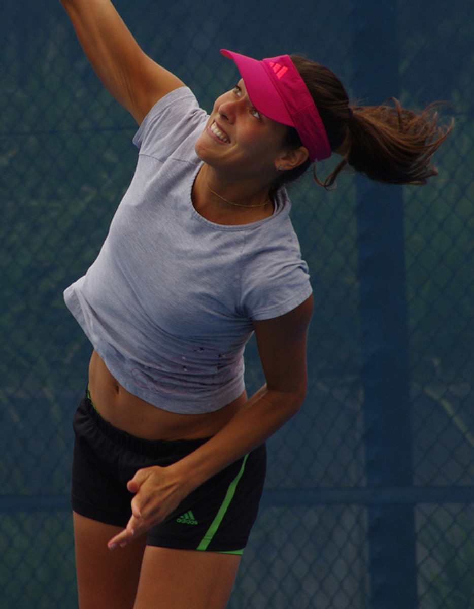 Sexy Ana Ivanovic in action during a match