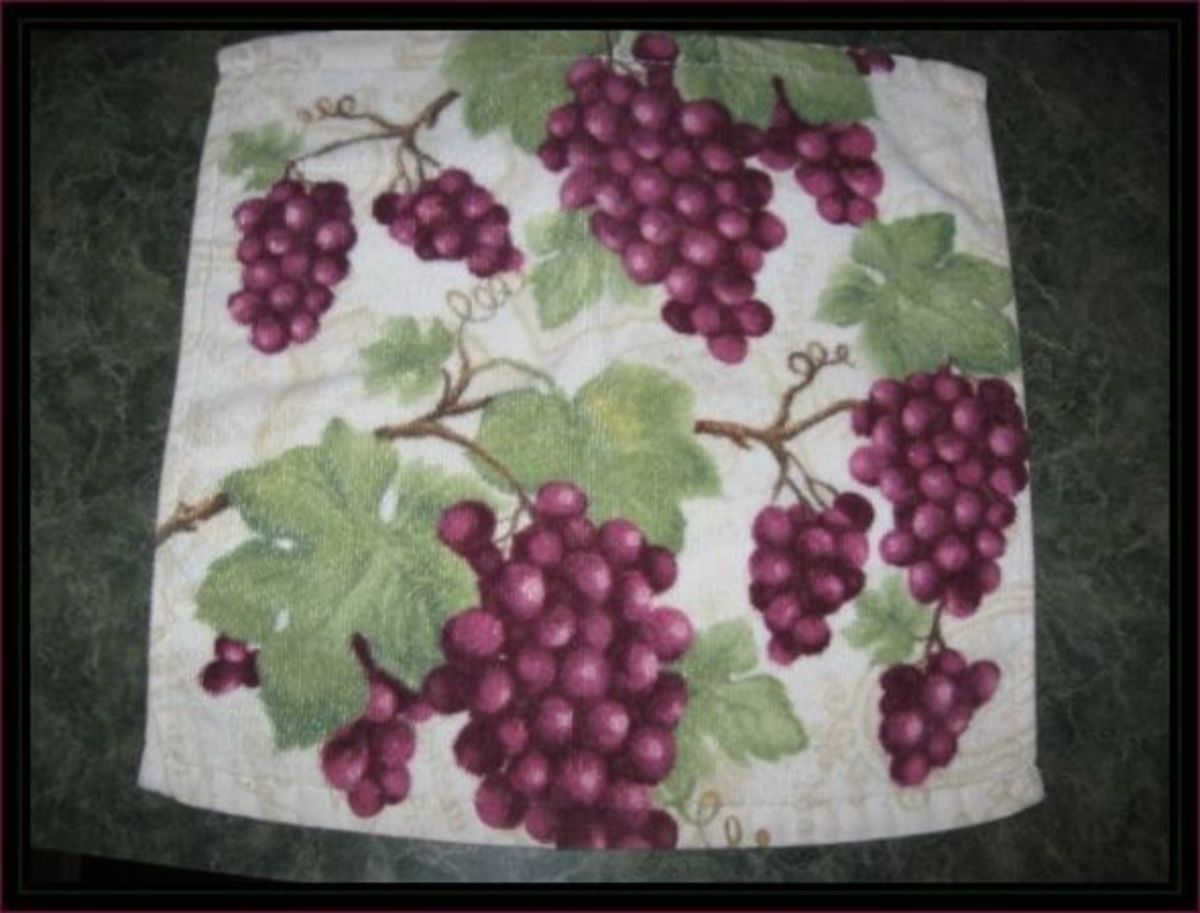 My Tuscan grape dish towels in red