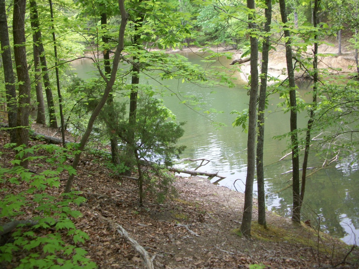 Cove area on the Kingfisher Trail at McDowell Nature Preserve, Charlotte, NC