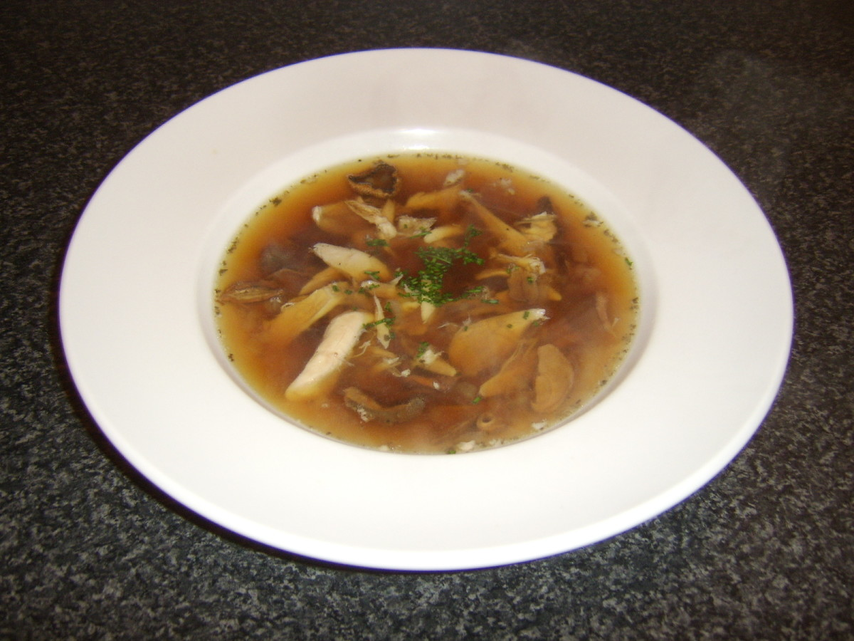 Chicken and porcini mushroom soup is one of the quick and easy recipes featured below