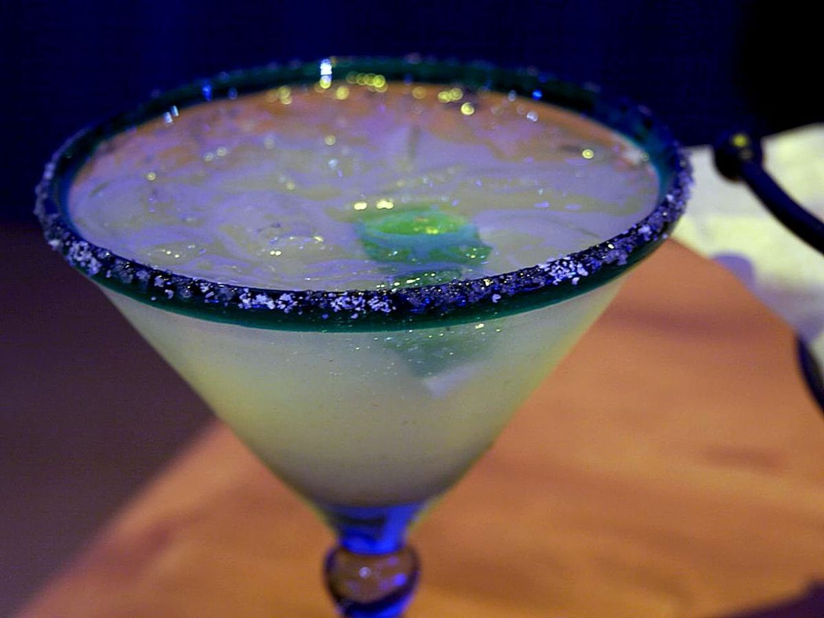 Real margarita on the rocks.