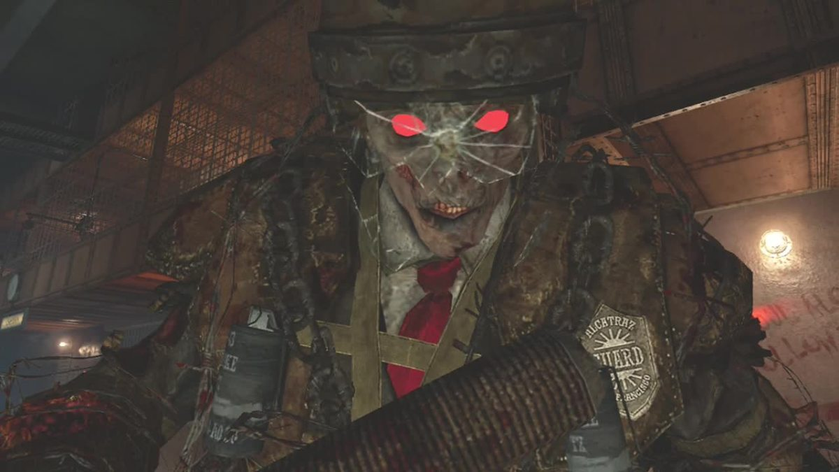 Brutus, the Zombie Boss on Alcatraz, Mob of The Dead - Call of Duty, Black Ops 2, Zombies