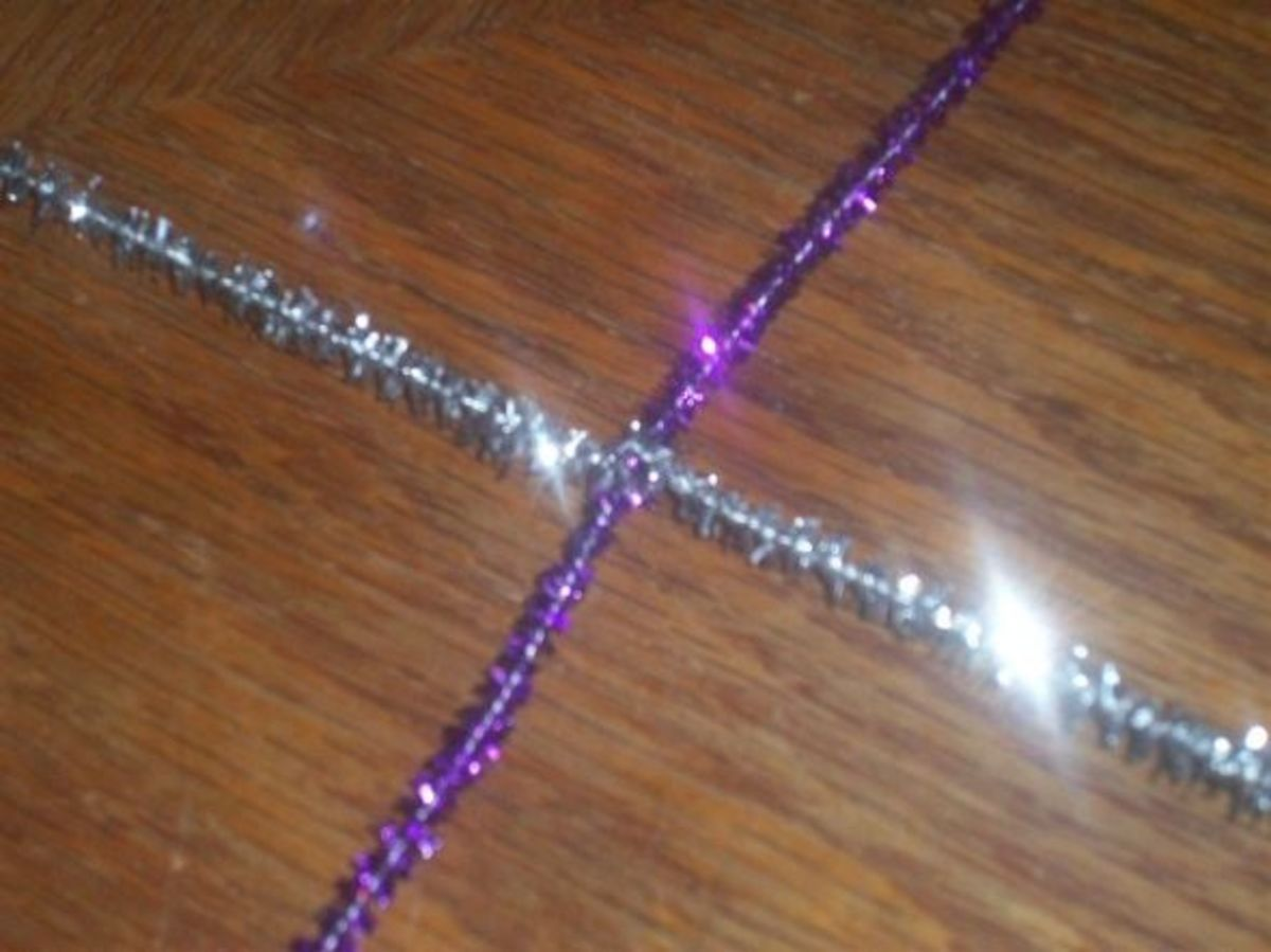 Twisting Pipe Cleaners Together for Craft