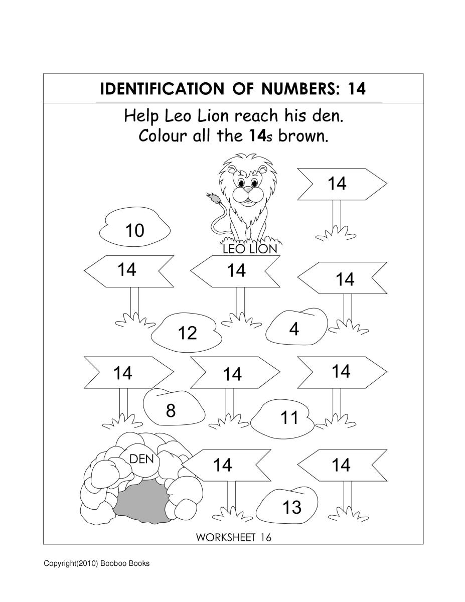Number recognition worksheets video - number 6